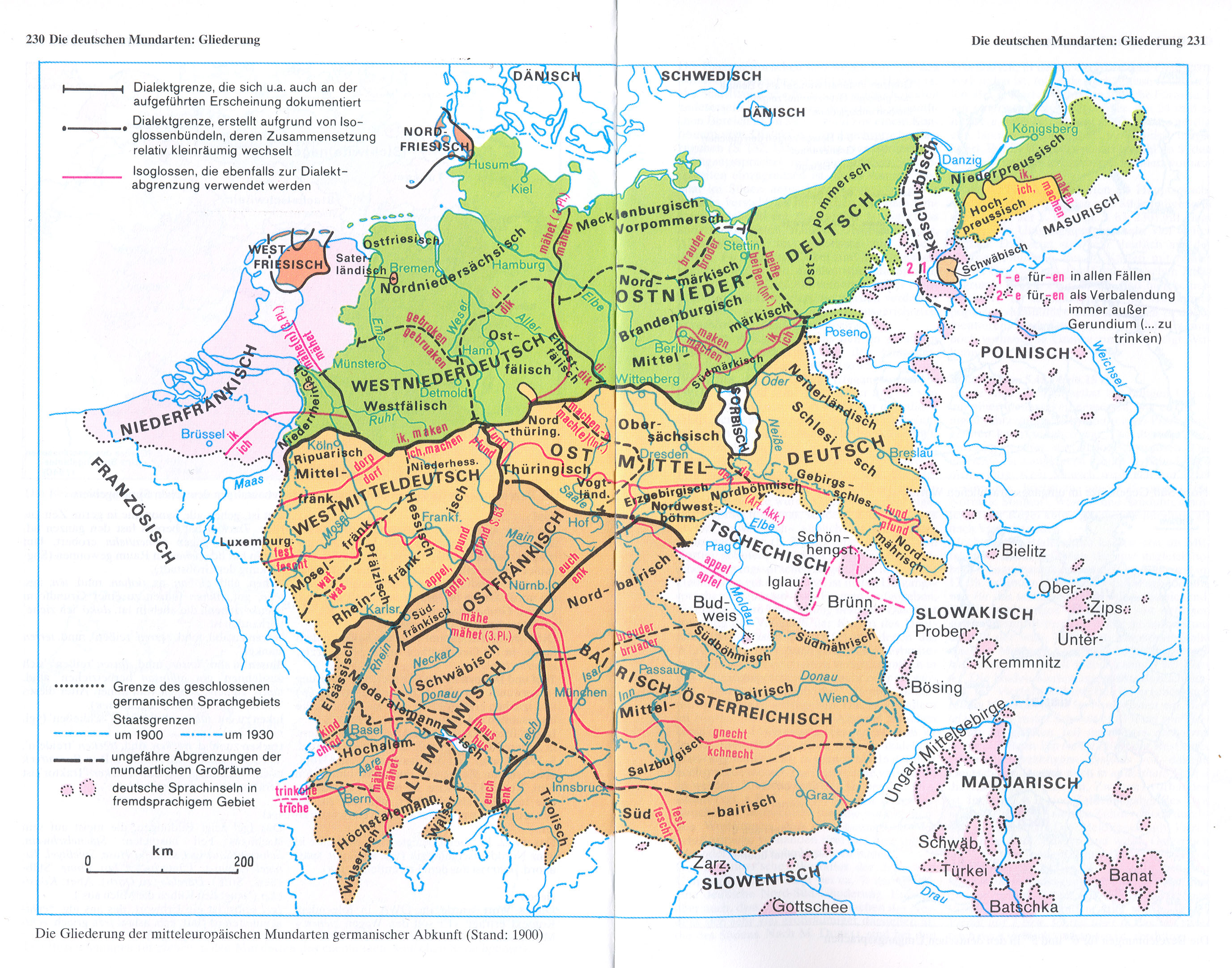 Deutsche Dialekte Karte